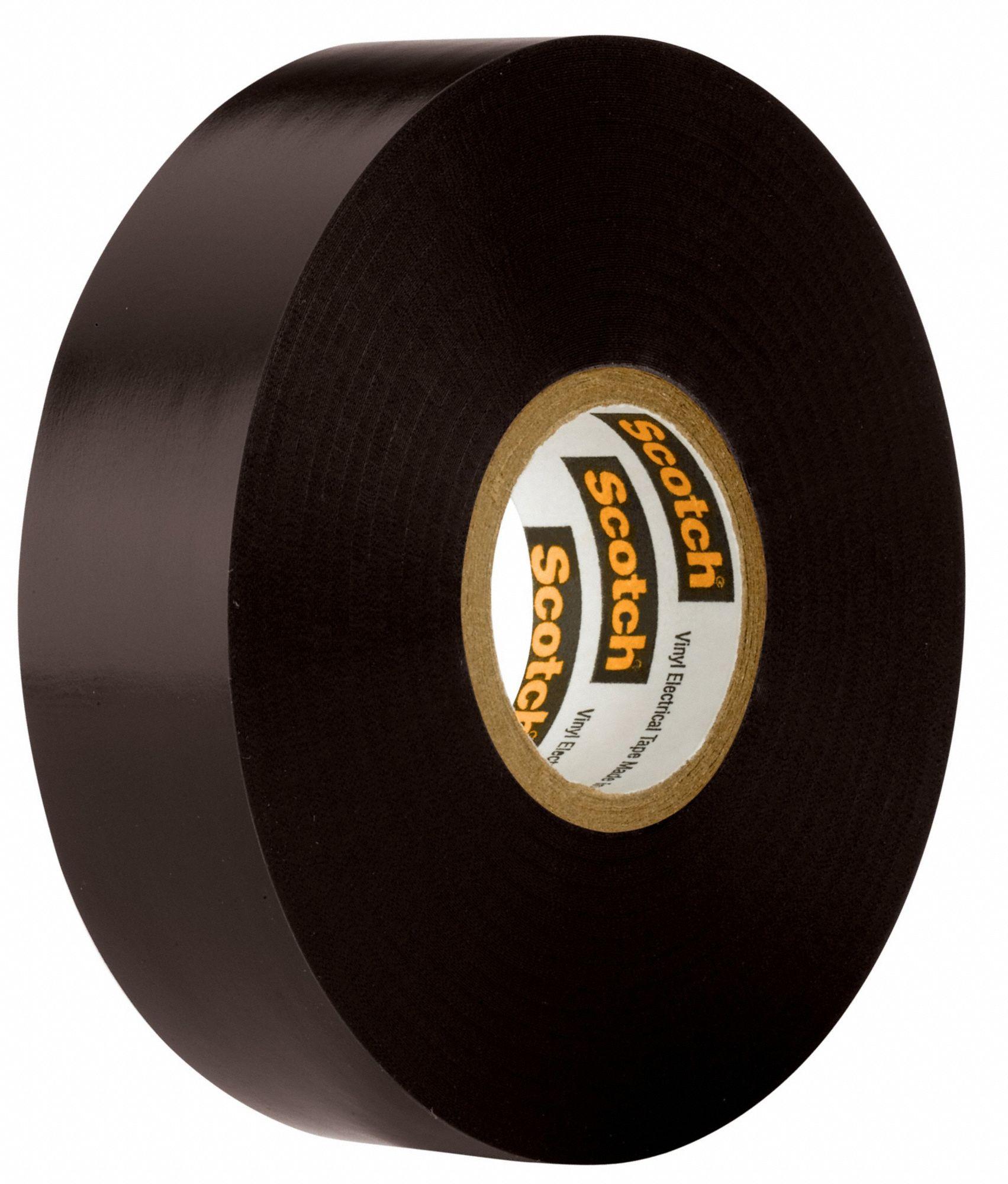 Scotch Vinyl Electrical Tape 3//4in X 66ft 8.5 Mil Thick 600 V 221 Deg F Black