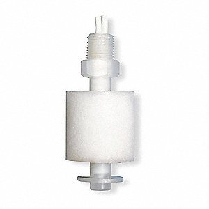 "Vertical Open Tank Liquid Level Switch, Selectable, Polypropylene, 1/8"" NPT"
