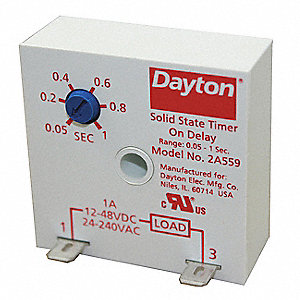 Encapsulated Timer Relay,1A,Solid State
