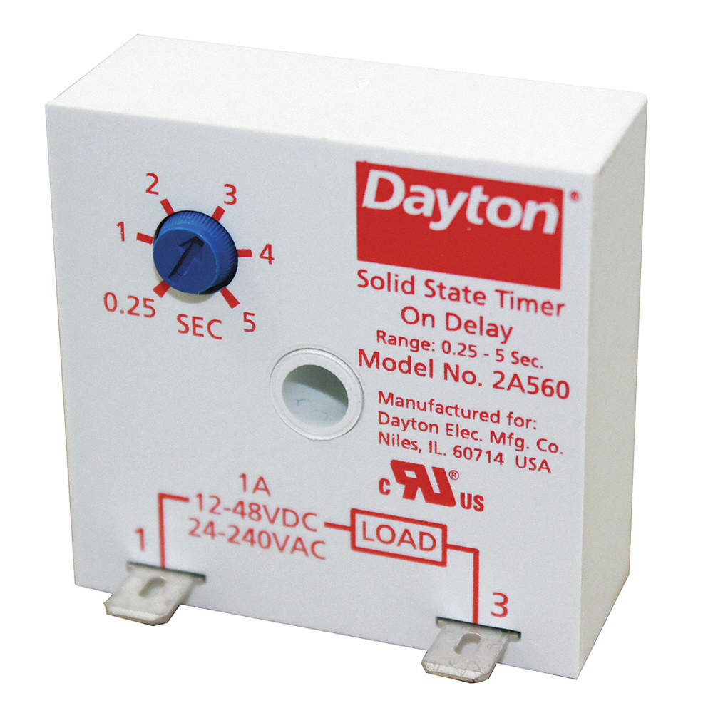 Single Function Encapsulated Timing Relay, 24 to 240VAC, 12 to 48VDC, on