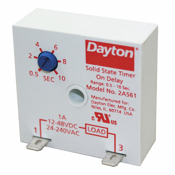 Dayton encapsulated timer relay function on delay