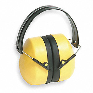 24dB Over-the-Head Ear Muff, Yellow&#x3b; ANSI S3.19-1974