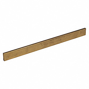 Flat,Brass,360,1/4x1/2 In,1 Ft L