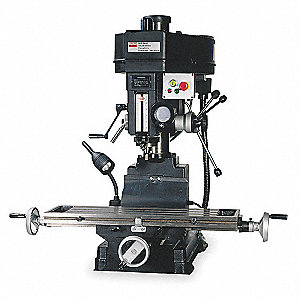 "Mill/Drill Machine, 1/2 Motor HP, 16"" Swing, 1725 RPM"
