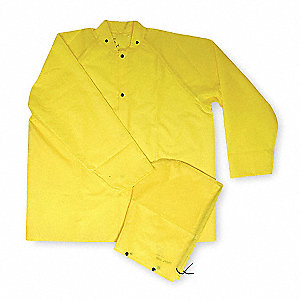FR Rain Jacket/Detachable Hood,Yellow,S