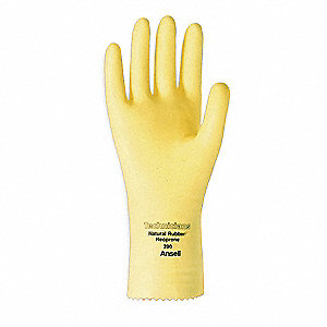 "Chemical Resistant Gloves, Size 10, 12""L, Natural ,  1 PR"