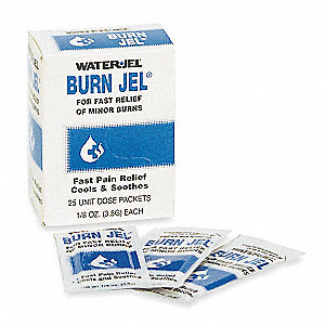 Burn Gel, Gel, Box, Wrapped Packets, 0.125 oz.