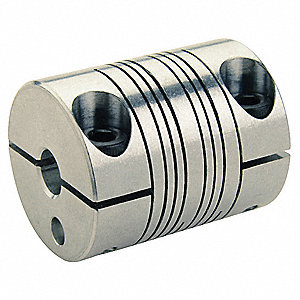 Motion Control Coupling, 1 Piece Clamp, 5mm x 3mm Bore Dia., 17 in.-lb. Rated Torque