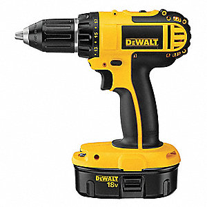"18V Compact NiCd 1/2"" Cordless Drill/Driver Kit, Battery Included"