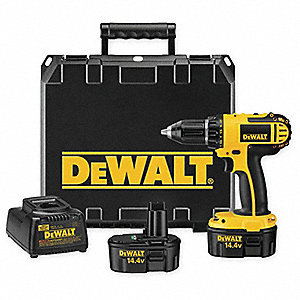 "14.4V Standard NiCd 1/2"" Cordless Drill/Driver Kit, Battery Included"