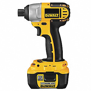 "1/4"" Hex Cordless Impact Driver Kit, 18.0 Voltage, 1330 In.-lb. Max. Torque, Battery Included"
