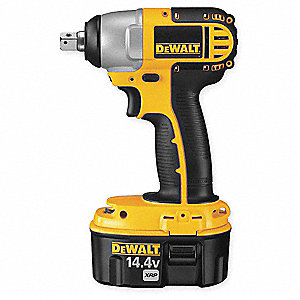 "1/2"" Cordless Impact Wrench Kit, 14.4 Voltage, 135 ft.-lb. Max. Torque, Battery Included"