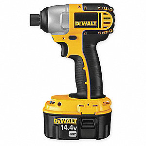 "1/4"" Hex Cordless Impact Driver Kit, 14.4 Voltage, 1240 In.-lb. Max. Torque, Battery Included"