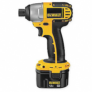 "1/4"" Hex Cordless Impact Driver Kit, 12.0 Voltage, 1150 in.-lb. Max. Torque, Battery Included"