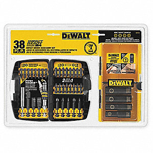 "38-Piece Screwdriver Bit Set, 1/4"" Hex Shank Size"