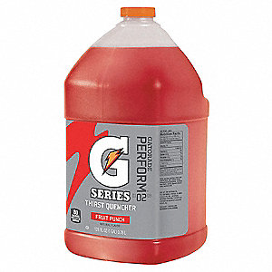 Fruit Punch Liquid Concentrate Sports Drink Mix, Package Size: 1 gal., Yield: 6 gal., 1 EA