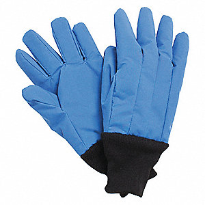 "Wrist Length Water Resistant Cryogenic Gloves, Laminated Nylon, Size XL, 12"" Length"