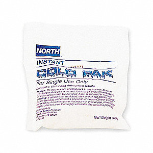 "6"" x 5"" White Instant Cold Pack, 10PK"