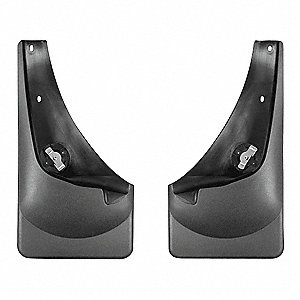 "17"" x 9"" Thermoplastic Resin Front Mud Flaps Mud Flaps, Black"