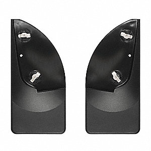 "17"" x 9"" Thermoplastic Resin Rear Mud Flaps Mud Flaps, Black"