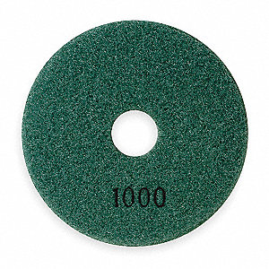 Polishing Pad,Dark Green 1000 Grit,4 In