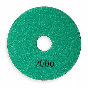 Polishing Pad,Light Green 2000 Grit,4 In
