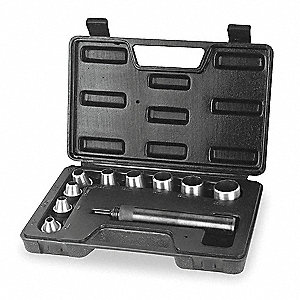 Carbon Tool Steel Gasket Punch Set&#x3b; Number of Pieces: 10