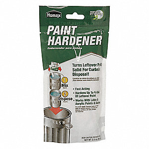 Clear Paint Solidifier, Sodium Polyacrylate Base Type, Size: 3.5 oz.