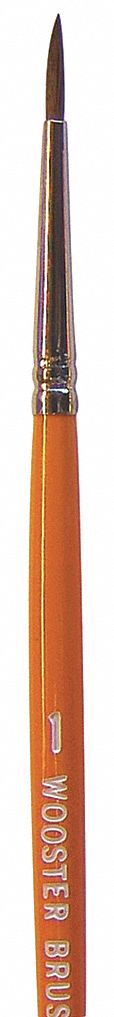#1 Artist Camel Hair Paint Brush, Soft, for Latex Based, 1 EA