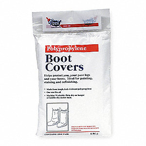 "Boot Covers, Slip Resistant: No, Waterproof: No, 16"" Height, Size: Universal, 1 PR"