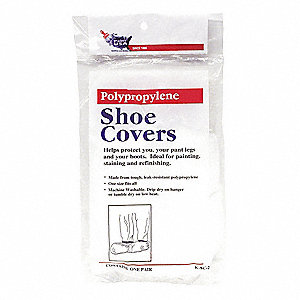 "Shoe Covers, Slip Resistant: No, Waterproof: No, 5"" Height, Size: Universal, 1 PR"