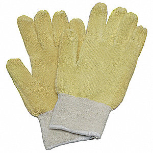Heat Resistant Gloves, Cotton/Kevlar®, 300°F Max. Temp., Men's L, PR 1