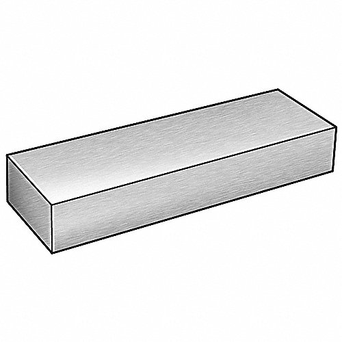 Grainger approved barra rectangular aluminio 96 l - Barras de aluminio huecas ...