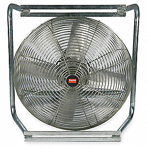 "20"" Cast Aluminum Transformer Cooling Fan,6599 cfm, 115/230 Voltage"