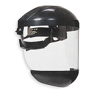 Ratchet Faceshield Asmbly,Blk,7x15-1/2in