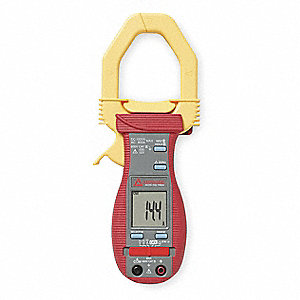 "Clamp On Digital Clamp Meter, 2"" Jaw Capacity, CAT III 600V"