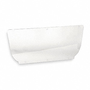 Faceshield Visor,Polycarb,Clr,7x15-1/2in