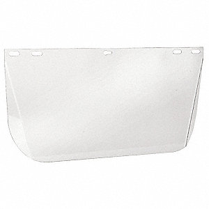 Faceshield Visor,Polycarb,Clr,8x15-1/2in