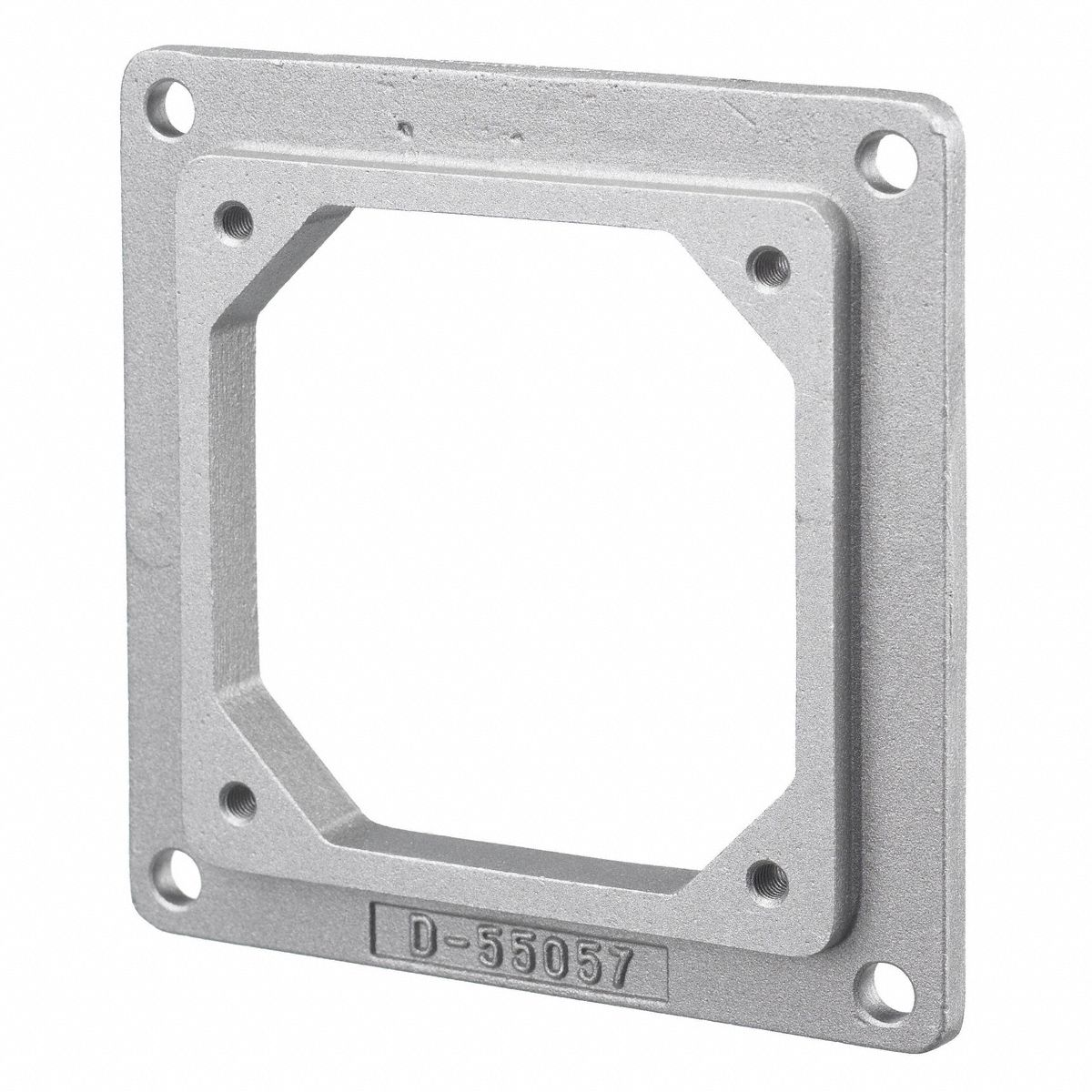 Adapter Plate, For Use With Receptacle Box 3D076, Aluminum