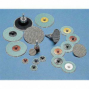 "2"" Coated Quick Change Disc, TR Roll-On/Off Type 3, 40, Coarse, Diamond, 10 PK"