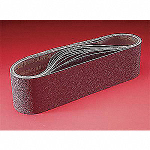 "Sanding Belt, 72"" Length, 2"" Width, Ceramic, 220 Grit, Very Fine, Coated, 707E, PK50"