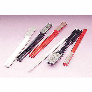 "Sharpening File, Rectangle, Diamond, Fine, 1-3/4""x1/2""x1-3/4"", 6210J, Package Quantity 10"