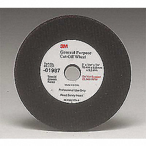 "3"" Cut-Off Wheel, 0.031"" Thickness, 3/8"" Arbor Hole"