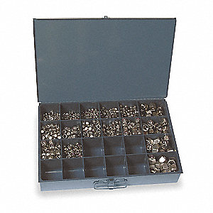 Hex Locknut Assortment,1090Pcs,16sz,SS