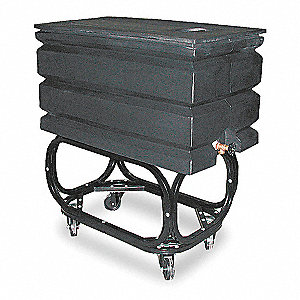 "Water Tank, 34 H x 20 W x 36"" D, 50 Gallon, Includes Metal Frame and Rolling Casters,For Use With Al"