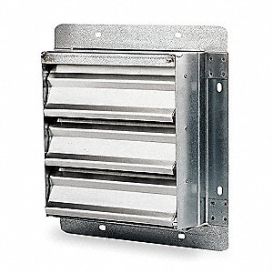 "18"" Backdraft Damper / Wall Shutter, 18-1/2"" x 18-1/2"" Opening Required"