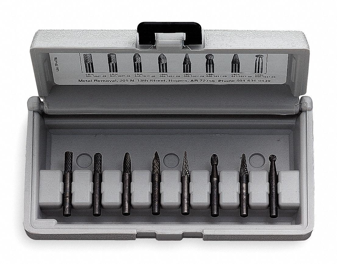 0.125 Shank Diameter Master Cut Edge Carbide Pointed Cone 0.125 Cutting Diameter Right Hand Cut WIDIA Metal Removal Bur M41487 SM