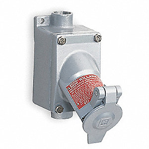 Receptacle, 240VAC Voltage, 15 Amps, Number of Poles: 2, Number of Wires: 3
