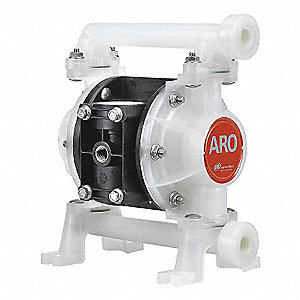 Kynar® Santoprene® Multiport Double Diaphragm Pump, 10.6 gpm, 100 psi