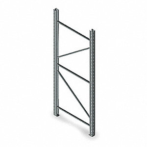 Steel Welded Upright Frame with 19,380 lb. Load Capacity, Gray